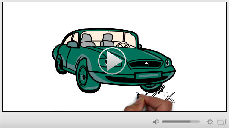 Auto Repair Whiteboard Video Commercial