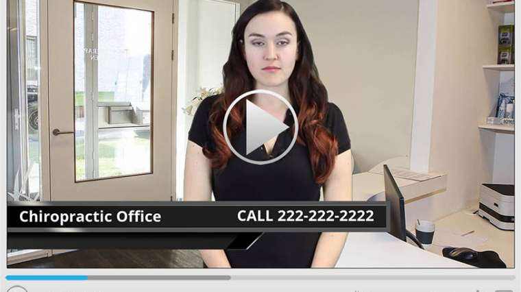 Chiropractic Office Spokesperson Video
