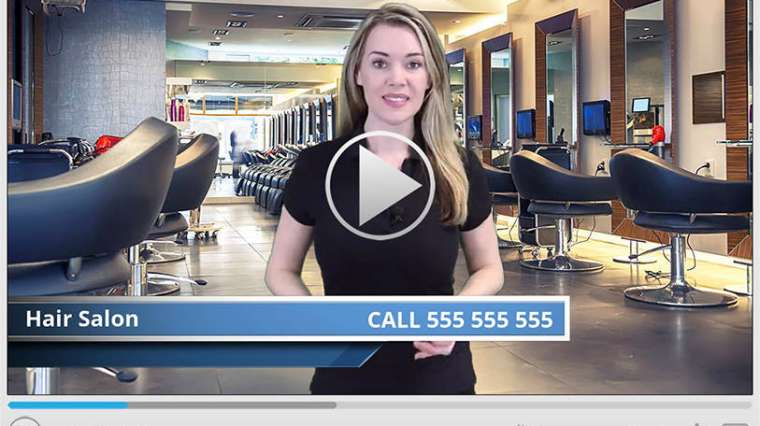 Hair Salon Business Spokesperson Video