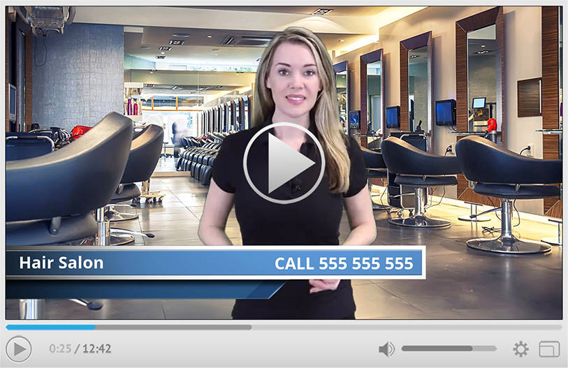 Hair Salon Spokesperson Video Commercial